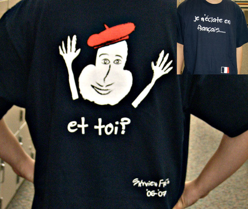 Graphic design club skyview high school for French club t shirt